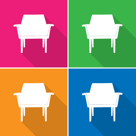 Sofa icons set great for any use. Vector EPS10. Ilustrace