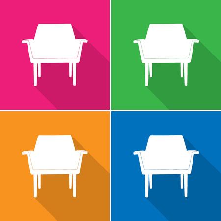 Sofa pictogrammen die zeer geschikt voor elk gebruik. Vector EPS10.