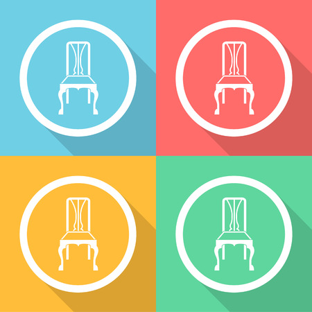 stoel pictogrammen instellen groot voor elk gebruik. Vector EPS10.