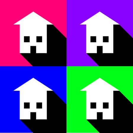huis pictogrammen instellen groot voor om het even welk gebruik. Vector EPS10. Stock Illustratie