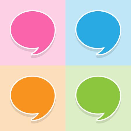 Spraak toespraak bubble pictogrammen instellen geweldig voor elk gebruik. Vector EPS10.