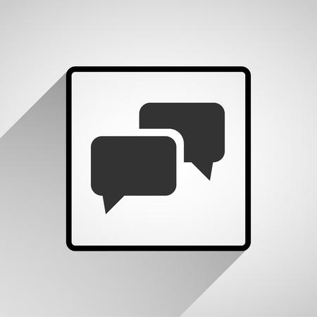 Bericht iconen zijn ideaal voor elk gebruik. Vector EPS10.