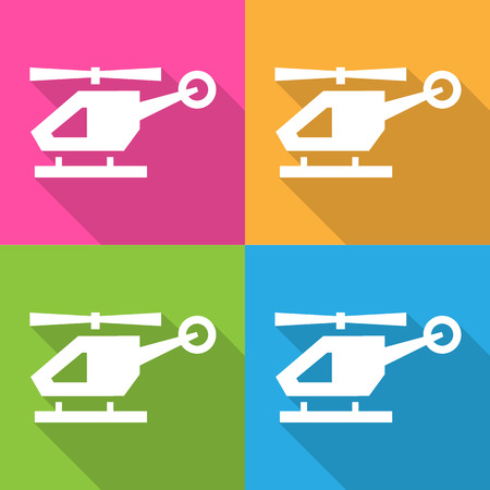 Heliopter icons set great for any use. Vector EPS10.