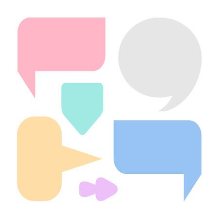 Bellen voor spraakpictogrammen geweldig ingesteld voor elk gebruik. Vector EPS10. Stock Illustratie