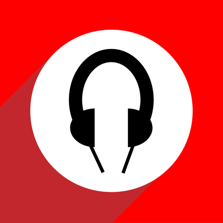 Geen Headphone pictogrammen die zeer geschikt voor elk gebruik. Vector EPS10.