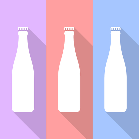 bottle icons set great for any use. Vector EPS10.