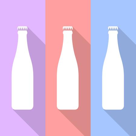 fles pictogrammen die zeer geschikt voor elk gebruik. Vector EPS10.