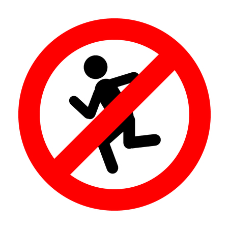 Don't Run icon great for any use. Vector EPS10.