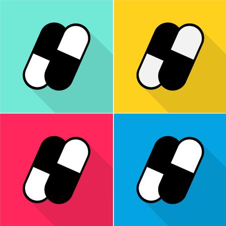 Kleurrijke capsules pictogrammen die zeer geschikt voor elk gebruik. Vector EPS10.