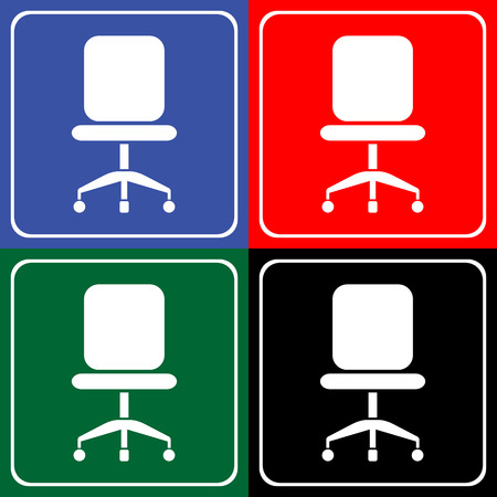 Chair icons set great for any use. Vector EPS10. Stock fotó - 48255820