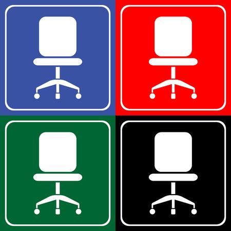 Stoel pictogrammen die zeer geschikt voor elk gebruik. Vector EPS10. Stock Illustratie