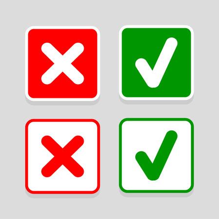 check pictogrammen die zeer geschikt voor elk gebruik. Vector EPS10. Stock Illustratie