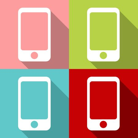 smartphone icons set great for any use. Vector EPS10. Ilustrace