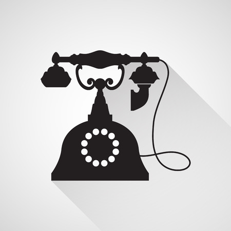 vintage telephone: Telephone Vintage icon great for any use. Vector EPS10. Illustration