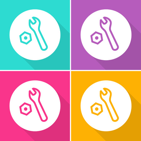 Wrench Setting icons set great for any use. Vector EPS10. Illustration