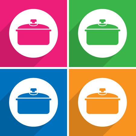 Pot pictogrammen die zeer geschikt voor elk gebruik. Vector EPS10. Stock Illustratie