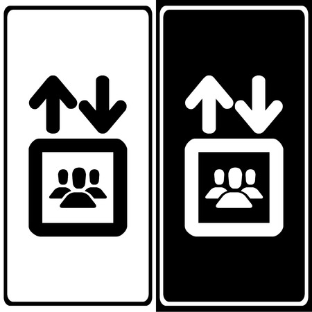 Elevator icons set great for any use. Vector EPS10. Stock Illustratie