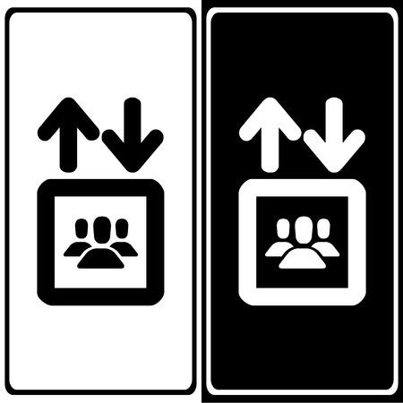 Lift pictogrammen die zeer geschikt voor elk gebruik. Vector EPS10. Stockfoto - 48256472