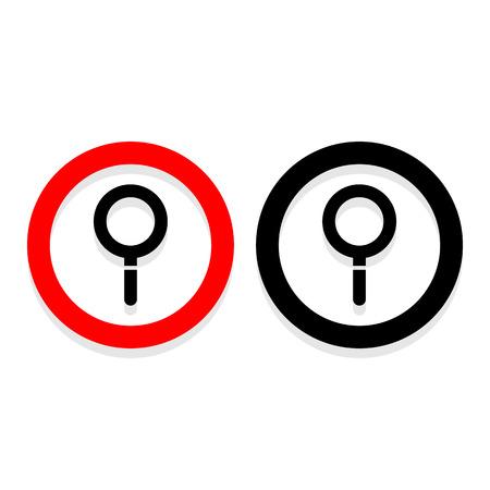 Zoek pictogrammen die zeer geschikt voor elk gebruik. Vector EPS10. Stock Illustratie