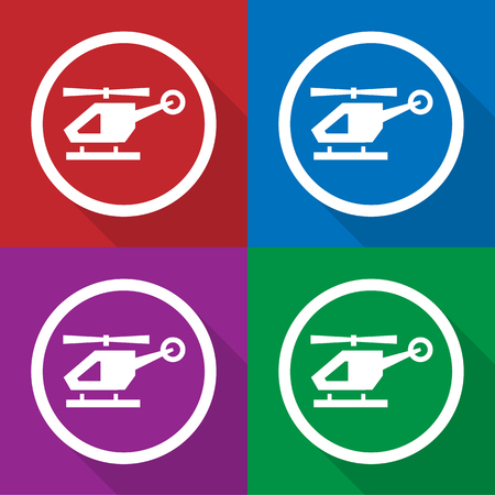 helicopters icons set great for any use. Vector EPS10.