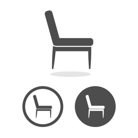 Chair icons set great for any use. Vector EPS10. Illusztráció