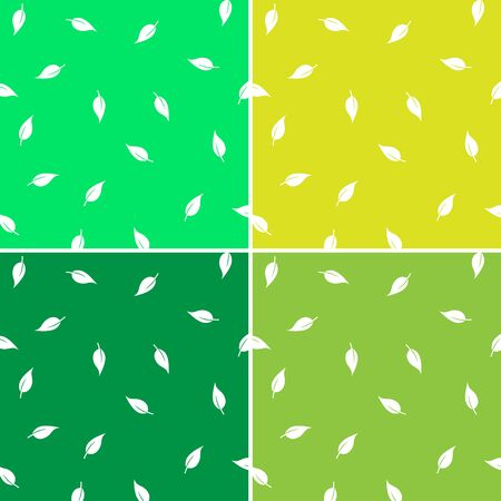 leaves Background set great for any use. Vector EPS10. Stock fotó - 48256547