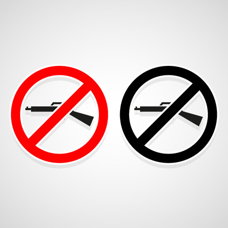 No Gun icons set great for any use. Vector EPS10. Stock Illustratie