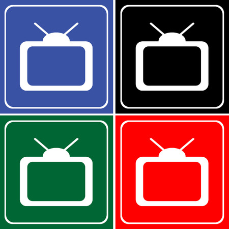 TV icons set great for any use. Vector EPS10.