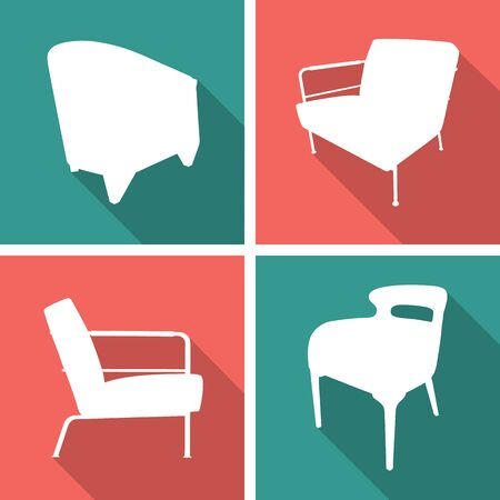 chair icons set great for any use. Vector EPS10.