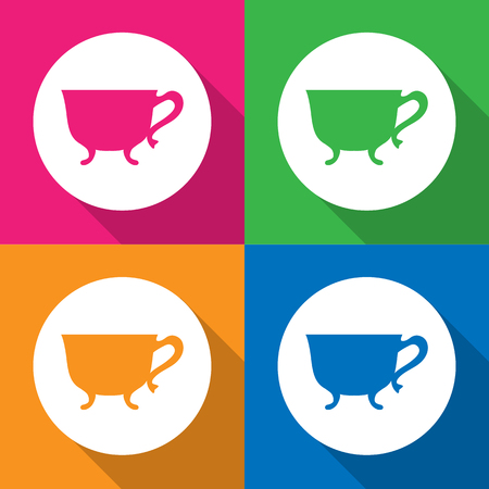 Cup icons set great for any use. Vector EPS10.