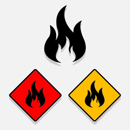 Fire icon great for any use. Vector EPS10.