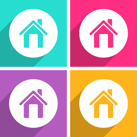 Home icons set great for any use. Vector EPS10. Stock Illustratie