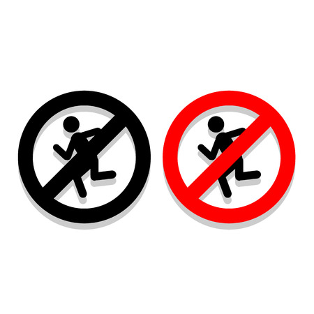 Dont Run icons set great for any use. Vector EPS10.