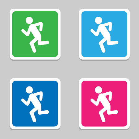 Run icons set great for any use. Vector EPS10.