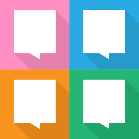 Speech bubble icons set great for any use. Vector EPS10.