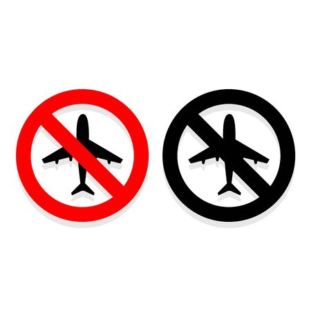 No airplane icons set great for any use. Vector EPS10. Stock Illustratie