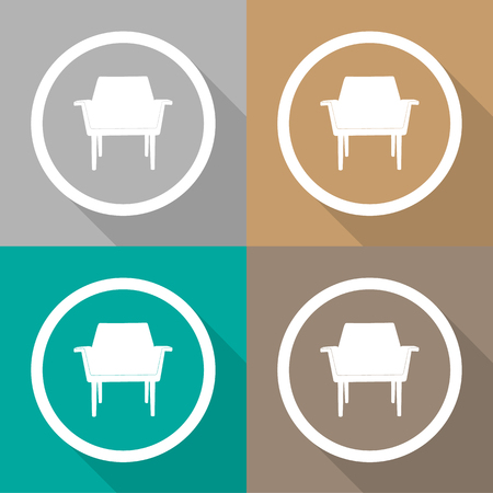 Sofa icons set great for any use. Vector EPS10. Stock Illustratie