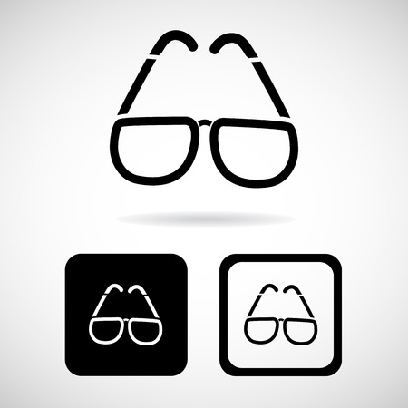 glasses icons set great for any use. Vector EPS10.