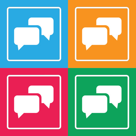 message icon great for any use. Vector EPS10. Stock Illustratie