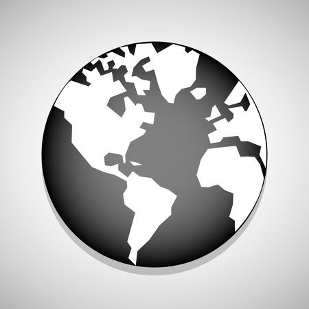 Pin wereld icoon geweldig voor elk gebruik. Vector EPS10.