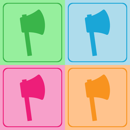 isolated background objects: Axe icons set great for any use. Vector EPS10.