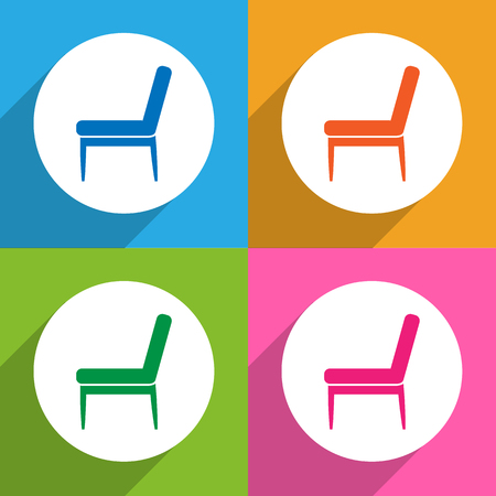 Chair icons set great for any use. Vector EPS10. Illustration
