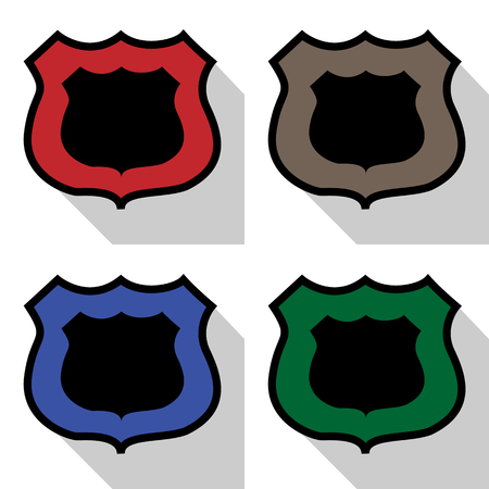 Police logo icon great for any use. Vector EPS10. Stock Illustratie
