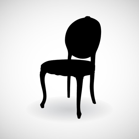 Chair icongreat for any use. Vector EPS10. Stock Illustratie