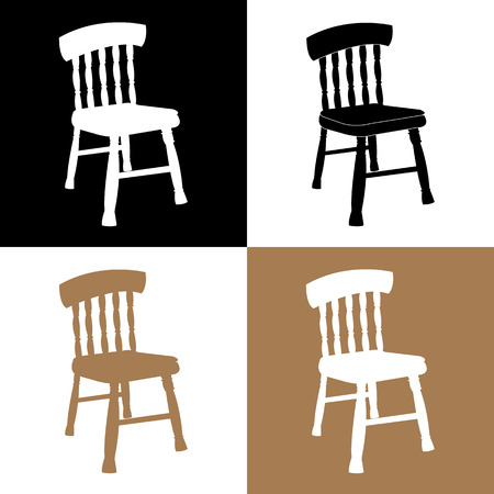 ergonomics: Chair Set Vector EPS10, Great for any use. Stock Photo