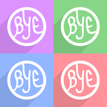bye: Bye icon Vector EPS10, Great for any use. Stock Photo