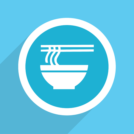 thai noodle: Noodle bowl asian food icon Vector EPS10, Great for any use.