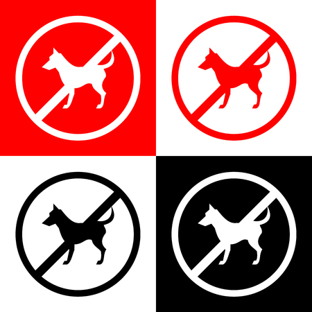 illegal zone: Not Pet Sign Vector EPS10, Great for any use.