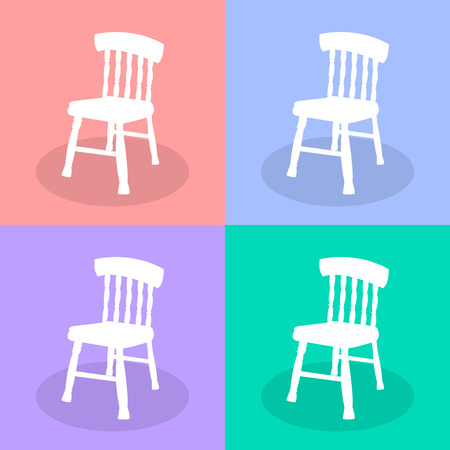 ergonomics: White Chair Set Vector EPS10, Great for any use.