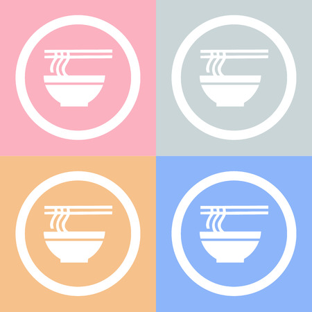 noodle bowl: Noodle bowl icon Vector EPS10, Great for any use.
